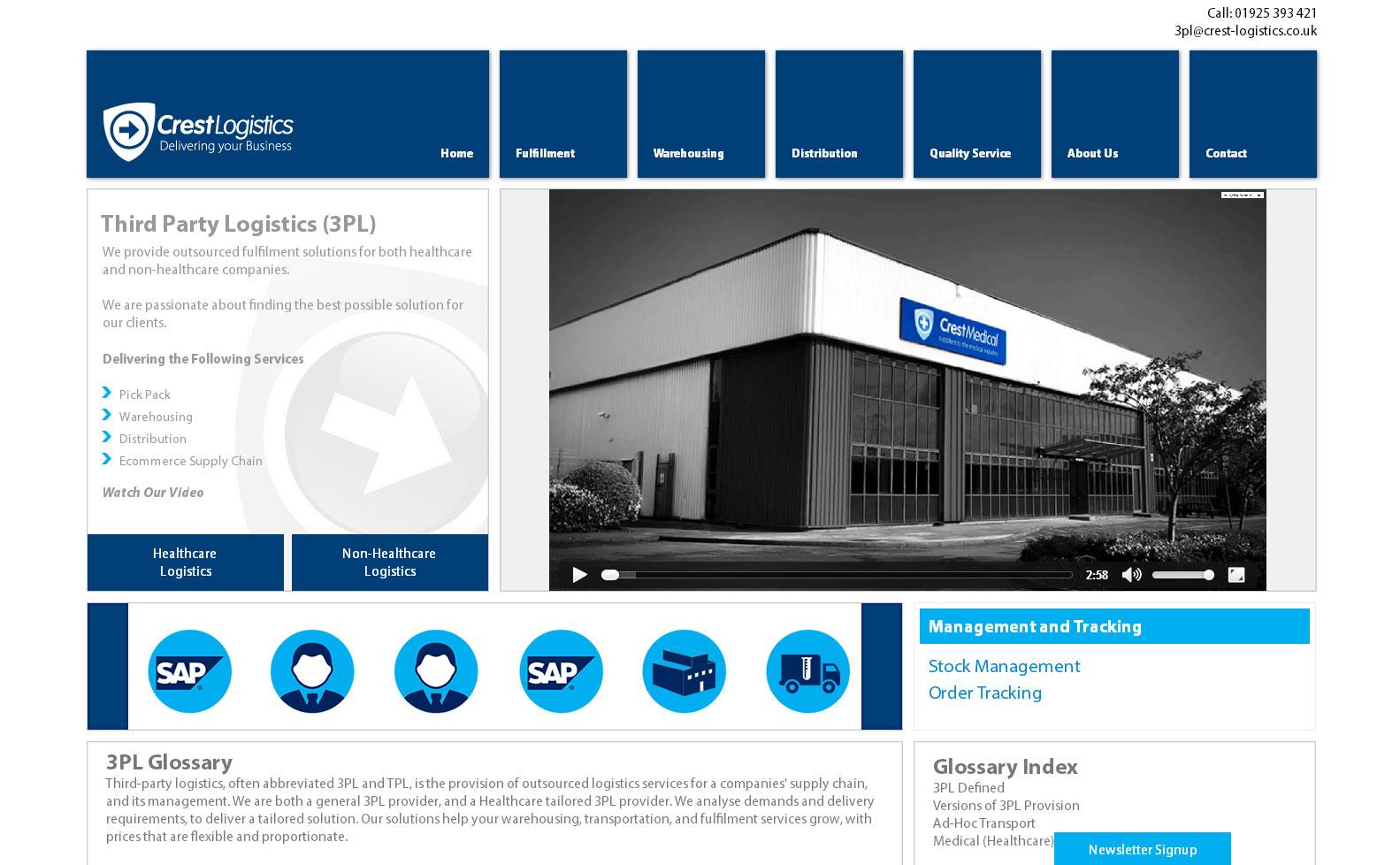 Crest logistics website
