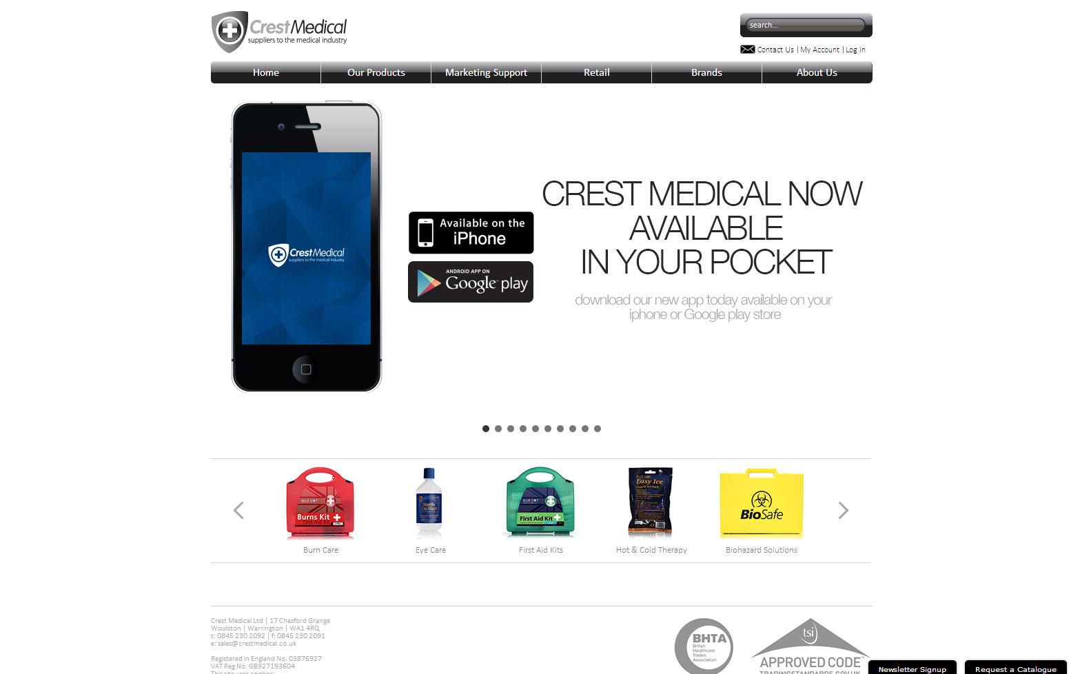 Crest Medical Website