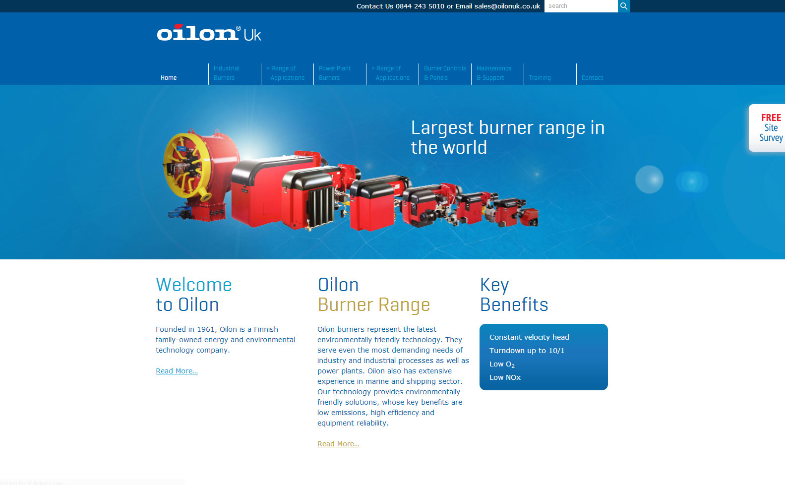 Oilon UK Website